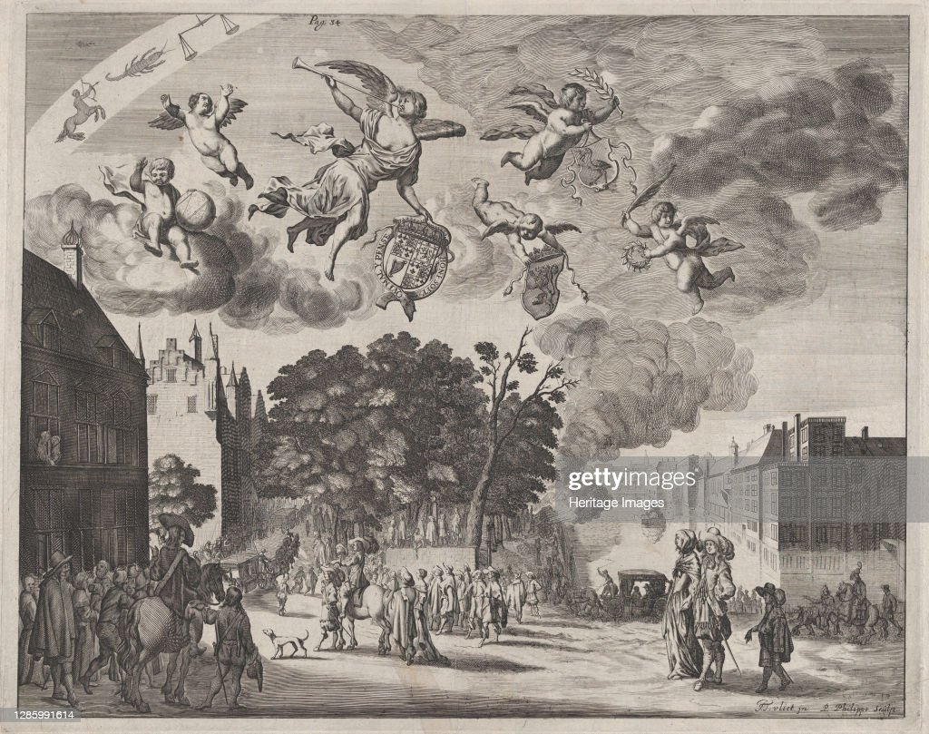 Charles Ii Entering The Hague In A Carriage With The Mauritshuis On The Right; From Verha..., : News Photo