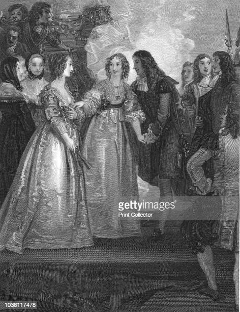 Charles II receiving the Duchess of Orleans at Dover . King Charles II of England and his sister, Henrietta Anne Stuart, negotiated the Secret Treaty...