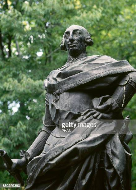 Charles III King of Spain Duke of Parma and Plasencia King of Naples and Sicily Statue in the Botanic Garden built by him Madrid Spain