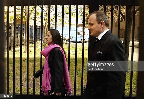 Charles Ingram and his wife Diana arrive at Southwark Crown Court April 4, 2003 in London, England. Ingram has been charged with deception and...
