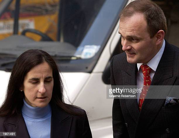Charles Ingram and his wife Diana arrive at Southwark Crown Court April 7, 2003 in London, England. Ingram has been charged with deception and...
