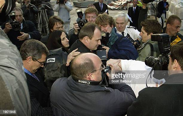 Charles Ingram and his wife Diana leave Southwark Crown Court followed by the media April 7, 2003 in London, England. Charles Ingram, his wife Diana...