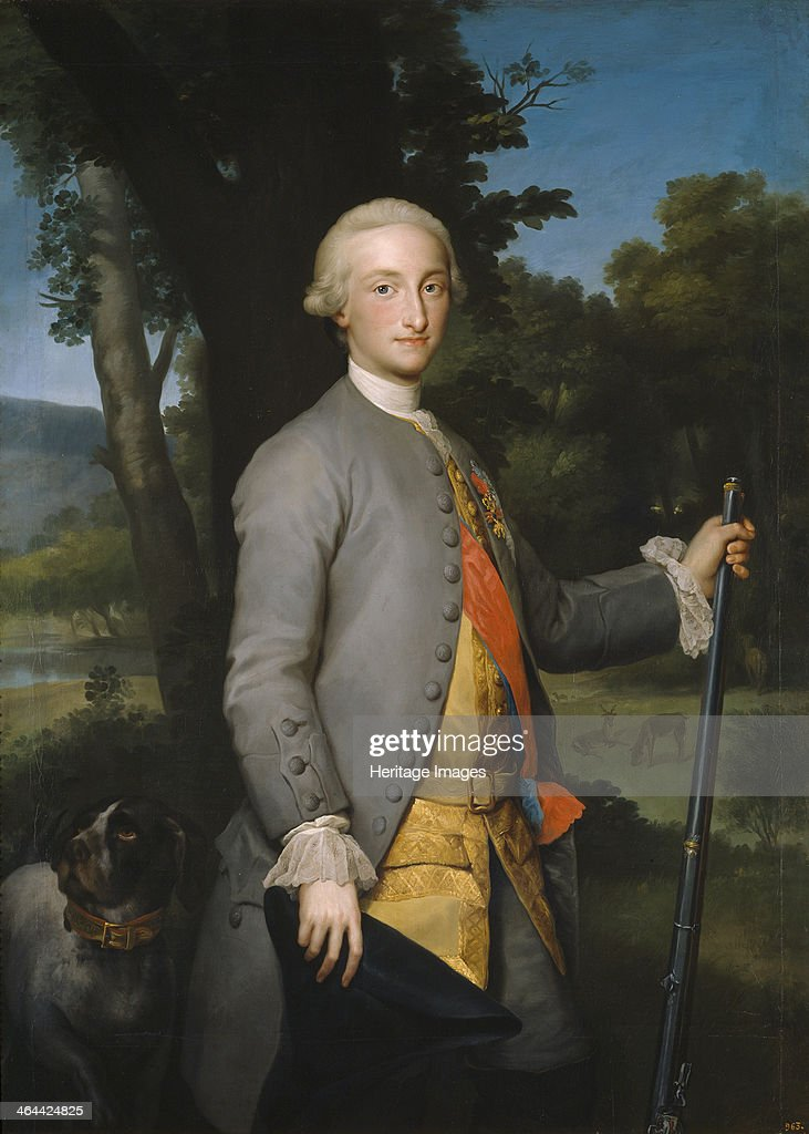 Charles IV of Spain as Prince of Asturias, ca 1764-1765. Artist: Mengs, Anton Raphael (1728-1779) : Photo d'actualité