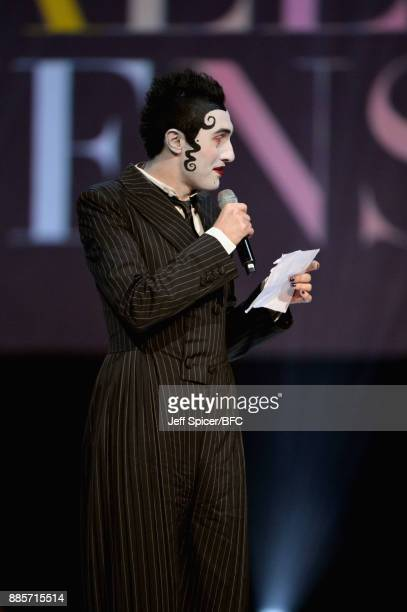 Charles Jeffrey accepts his award on stage during The Fashion Awards 2017 in partnership with Swarovski at Royal Albert Hall on December 4 2017 in...