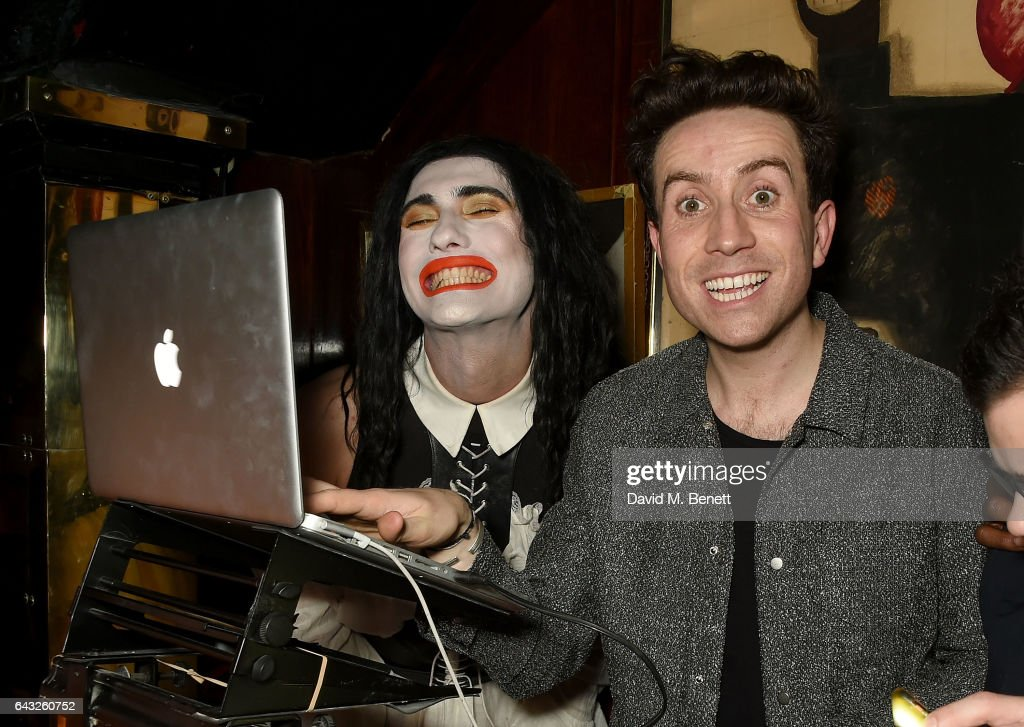 Charles Jeffrey and Nick Grimshaw at the LOVE and Burberry London Fashion Week Party at Annabel's celebrating Katie Grand and Kendall Jenner's #LOVEME17 on February 20, 2017 in London, United Kingdom.
