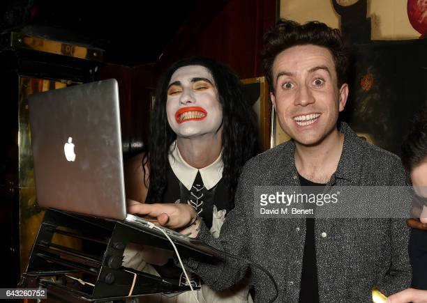 Charles Jeffrey and Nick Grimshaw at the LOVE and Burberry London Fashion Week Party at Annabel's celebrating Katie Grand and Kendall Jenner's...