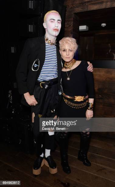 Charles Jeffrey and Noomi Rapace attend the Charles Jeffrey LOVERBOY x 10 Men Magazine LFWM party celebrating the 5th anniversary of London Fashion...
