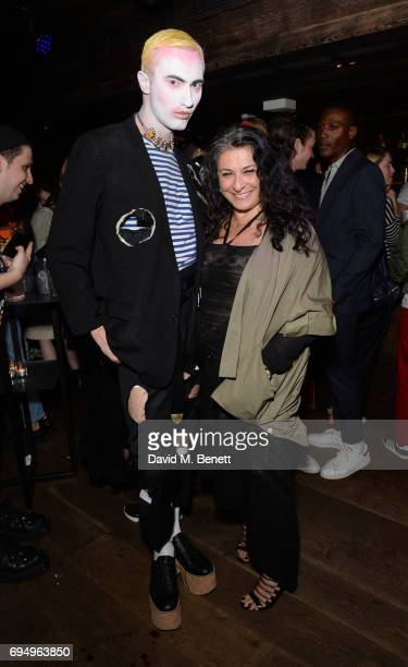 Charles Jeffrey and Sophia Neophitou attend the Charles Jeffrey LOVERBOY x 10 Men Magazine LFWM party celebrating the 5th anniversary of London...