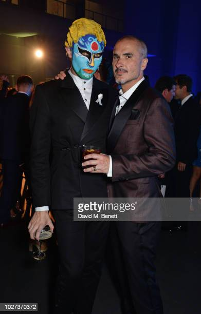 Charles Jeffrey and Zane Lowe attend the GQ Men of the Year Awards 2018 in association with HUGO BOSS at Tate Modern on September 5 2018 in London...