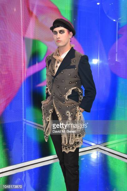 Charles Jeffrey attends a private view of Melissa Medusa presented by Gary Card and Melissa Galeria on October 3 2018 in London England