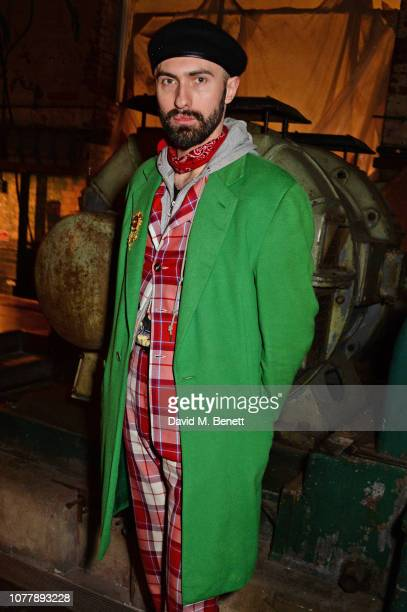 Charles Jeffrey attends the Charles Jeffrey LOVERBOY show during London Fashion Week Men's January 2019 at Wapping Hydraulic Power Station on January...
