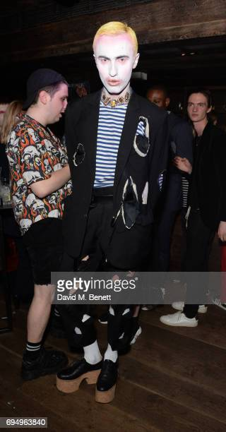 Charles Jeffrey attends the Charles Jeffrey LOVERBOY x 10 Men Magazine LFWM party celebrating the 5th anniversary of London Fashion Week Men's at The...