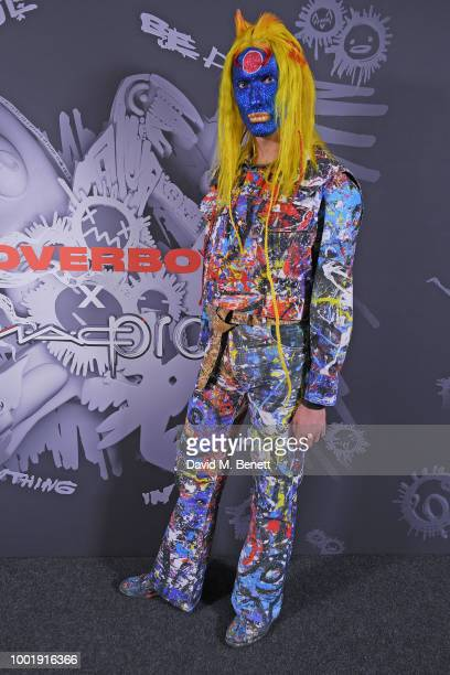 Charles Jeffrey attends the Charles Jeffrey LOVERBOY x MAC Pro Party at 180 The Strand on July 19 2018 in London United Kingdom