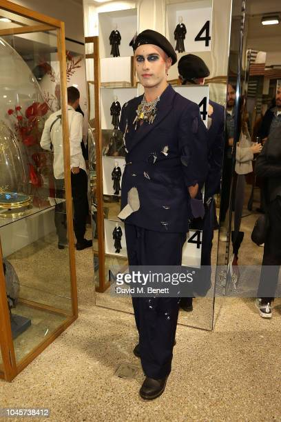 Charles Jeffrey attends the Dover Street Market Frieze Open House at Dover Street Market on October 4 2018 in London England