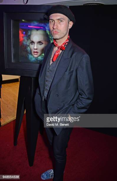 Charles Jeffrey attends the launch of Daphne Guinness' new album Daphne The Golden Chord It's A Riot featuring a film by Nick Knight and The Fashtons...