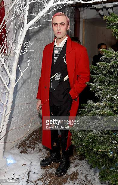 Charles Jeffrey attends the launch of 'The Reindeer 2016' an immersive Christmas dining experience by Bistrotheque at Sarabande featuring cocktails...