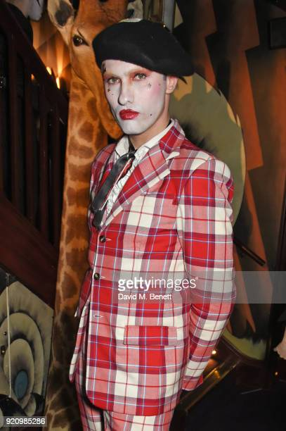 Charles Jeffrey attends the LOVE and MIU MIU Women's Tales Party at Loulou's on February 19 2018 in London England