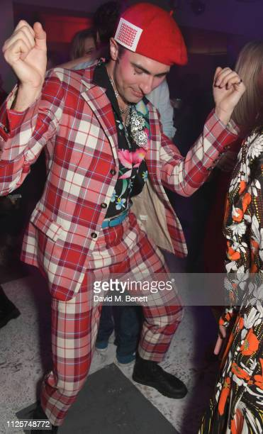 Charles Jeffrey attends the LOVE x The Store X party celebrating LOVE issue 21 supported by Perrier Jouet at The Store X on February 18 2019 in...