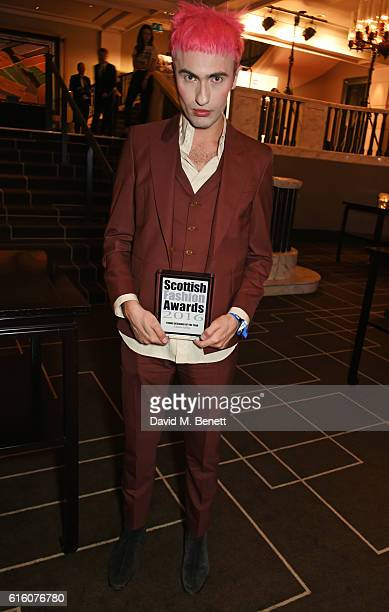 Charles Jeffrey winner of the Young Designer of the Year award attends the Scottish Fashion Awards in association with Maserati at Rosewood Hotel on...