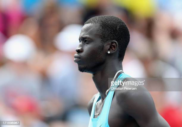 Charles Jock before the Men's 800 Meter Run on day four of the 2013 USA Outdoor Track & Field Championships at Drake Stadium on June 23, 2013 in Des...
