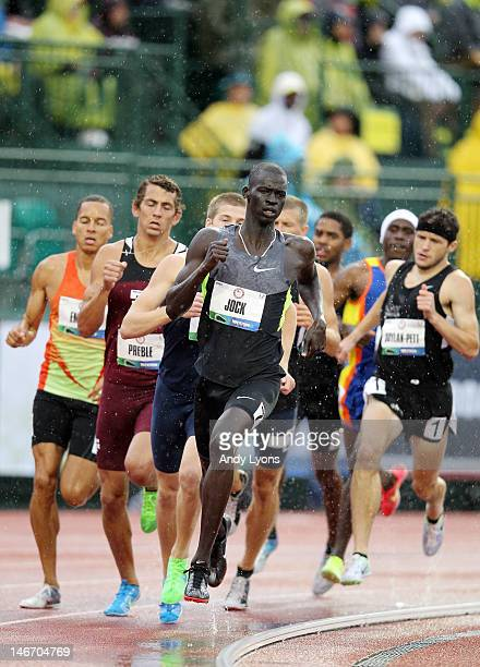 Charles Jock competes in a preliminary round of the men's 800 meter run during Day One of the 2012 U.S. Olympic Track & Field Team Trials at Hayward...