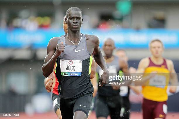 Charles Jock competes in the men's 800 meter run during Day Two of the 2012 U.S. Olympic Track & Field Team Trials at Hayward Field on June 23, 2012...