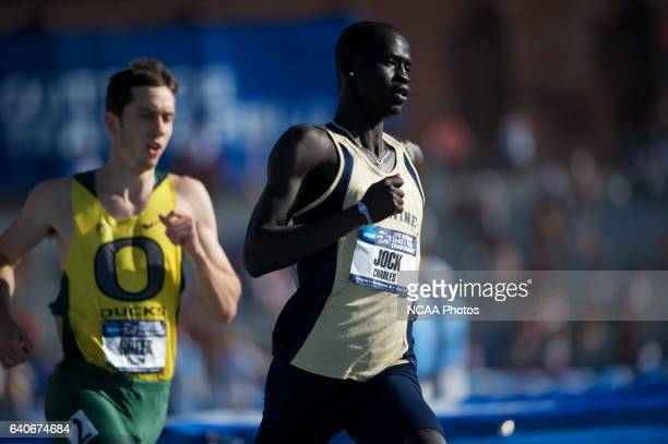 Charles Jock of UC Irvine leads the pack in the men's 800 meter dash during the Division I Men's and Women's Outdoor Track and Field Championship...