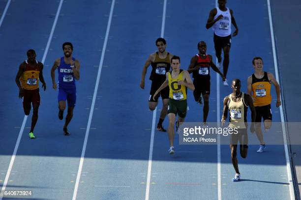 Charles Jock of UC Irvine races his way toward a first place finish in the men's 800 meter race during the Division I Men's and Women's Outdoor Track...