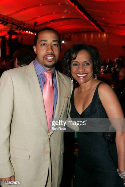Charles Johnson and Judge Glenda Hatchett during A Celebrity Roast of Jane Fonda Benefitting the Georgia Campaign for Adolescent Pregnancy Prevention...