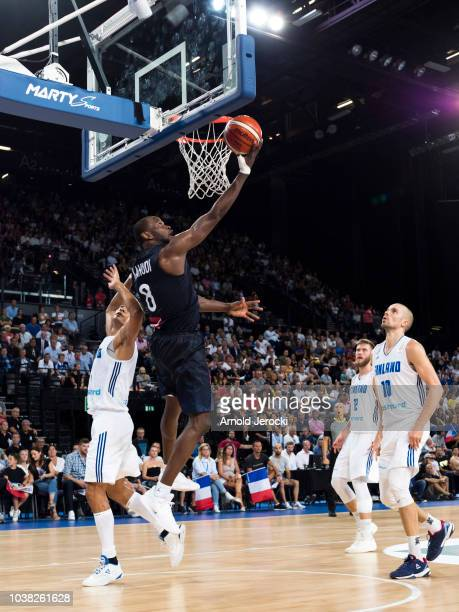 Charles Kahudi from France in action during the FIBA Basketball Wolrd cup 2019 qualifier match between France and Finland at the Sud de France Arena...