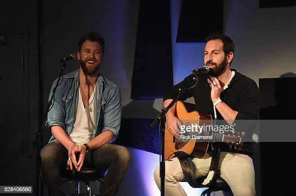 Charles Kelley and brother Josh Kelley Perform during Charles Kelley of Lady Antebellum Special VIP Performance on May 4 2016 in Nashville Tennessee