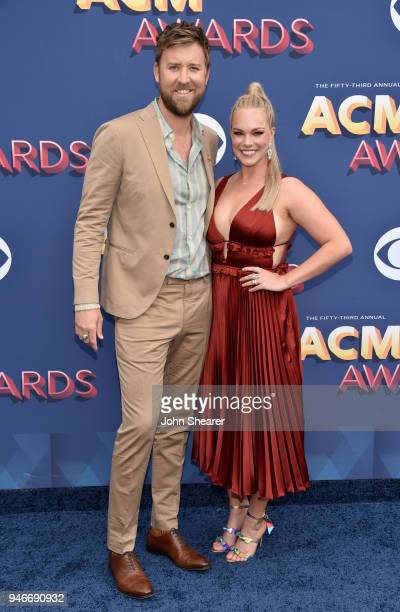 Charles Kelley and Cassie McConnell attend the 53rd Academy of Country Music Awards at MGM Grand Garden Arena on April 15 2018 in Las Vegas Nevada