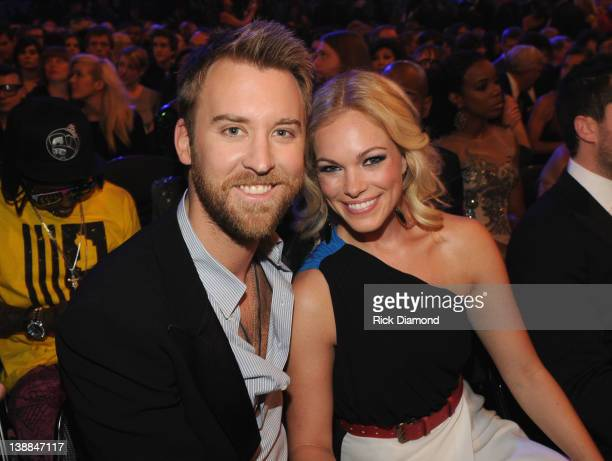 Charles Kelley and Cassie McConnell attend The 54th Annual GRAMMY Awards at Staples Center on February 12 2012 in Los Angeles California