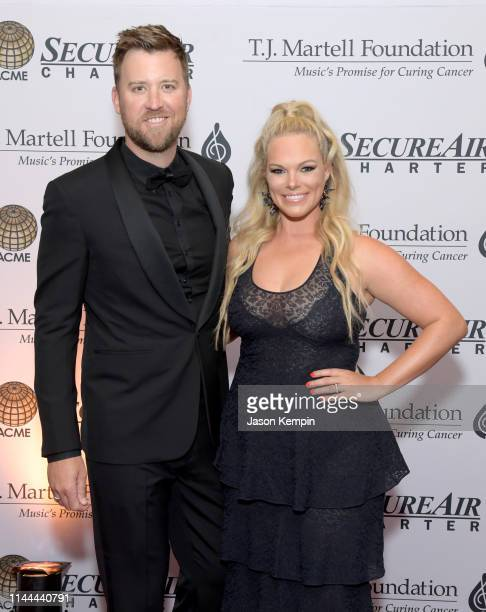 Charles Kelley and Cassie McConnell attend The TJ Martell Foundation Nashville Best Cellars 2019 at the Loews Vanderbilt Hotel on April 22 2019 in...