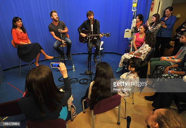 Charles Kelley and Dave Haywood of Lady Antebellum visit Kravis Children's Hospital at Mount Sinai for Musicians On Call/ Citi on May 9 2013 in New...