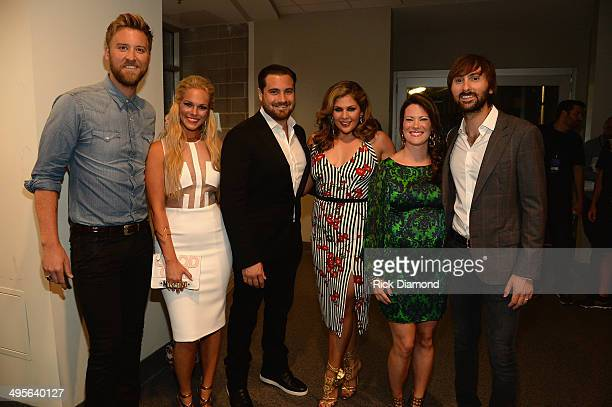 Charles Kelley Cassie McConnell Chris Tyrrell Hillary Scott Kelli Cashiola and Dave Haywood attend the 2014 CMT Music Awards at Bridgestone Arena on...