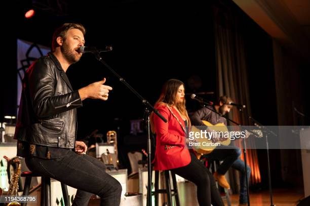 Charles Kelley Hillary Scott and Dave Haywood of Lady Antebellum perform at The Peabody on January 17 2020 in Memphis Tennessee
