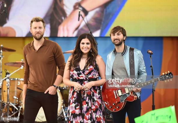 Charles Kelley Hillary Scott and Dave Haywood of Lady Antebellum perform on ABC's Good Morning America at Rumsey Playfield on July 14 2017 in New...