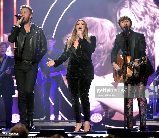 Charles Kelley Hillary Scott and Dave Haywood of Lady Antebellum perform onstage during the 2019 CMT Artist of the Year at Schermerhorn Symphony...
