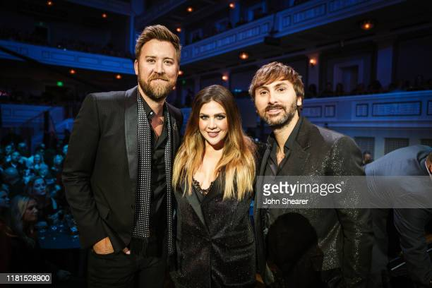 Charles Kelley Hillary Scott and Dave Haywood of Lady Antebellum pose during the 2019 CMT Artist of the Year at Schermerhorn Symphony Center on...