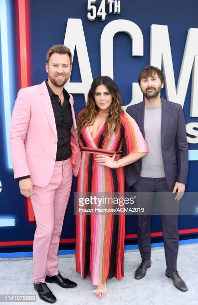 Charles Kelley Hillary Scott and Dave Haywood of Lady Antebellum attend the 54th Academy Of Country Music Awards at MGM Grand Hotel Casino on April...