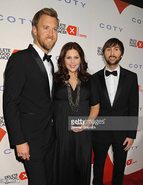 Charles Kelley Hillary Scott and Dave Haywood of Lady Antebellum attend the 2013 Delete Blood Cancer Gala which honors Vera Wang Leighton Meester and...