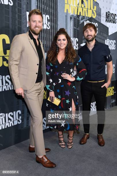 Charles Kelley Hillary Scott and Dave Haywood of Lady Antebellum attends the 2017 CMT Music Awards at the Music City Center on June 7 2017 in...