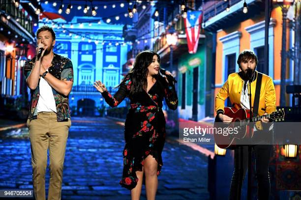 Charles Kelley Hillary Scott and Dave Haywood of musical group Lady Antebellum perform onstage during the 53rd Academy of Country Music Awards at MGM...