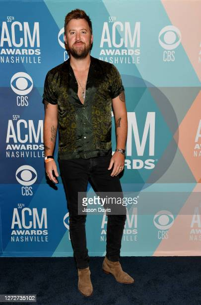 Charles Kelley of Lady A attends virtual radio row during the 55th Academy of Country Music Awards at Gaylord Opryland Resort & Convention Center on...