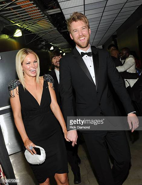 Charles Kelley of Lady Antebellum and Cassie McConnell attend The 53rd Annual GRAMMY Awards held at Staples Center on February 13 2011 in Los Angeles...