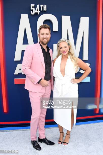 Charles Kelley of Lady Antebellum and Cassie McConnell attend the 54th Academy Of Country Music Awards at MGM Grand Hotel Casino on April 07 2019 in...