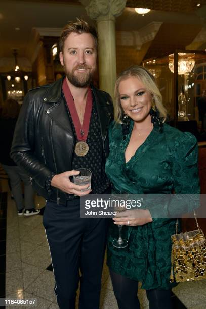 Charles Kelley of Lady Antebellum and Cassie McConnell attend the 53rd annual CMA awards nominees reception on October 28 2019 in Brentwood Tennessee