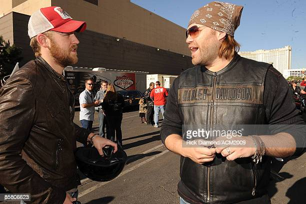 ACCESS* Charles Kelley of Lady Antebellum and James Otto participate in the Academy Of Country Music Chairman's Ride on April 4 2009 at MGM Grand...