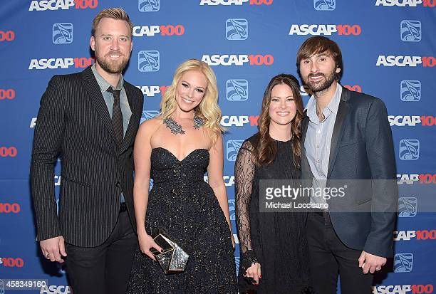 Charles Kelley of Lady Antebellum Cassie McConnell Kelli Cashiola and Dave Haywood of Lady Antebellum attends the 52nd annual ASCAP Country Music...